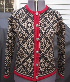 Ravelry: 12614 Ingeborg pattern by Dale of Norway / Dale Design Knit Jacket, Knit Cardigan, Motif Fair Isle, Norwegian Style, Norwegian Knitting, Fair Isle Knitting, Pullover, Knitting Designs, Textiles