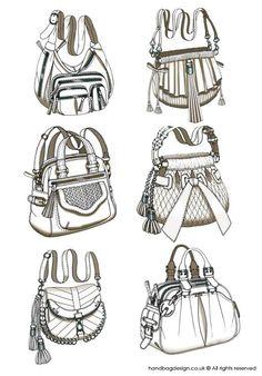 Handbag / Purse design - Sketch Drawing / Hand rendering by Emily Bag Illustration, Fashion Illustration Sketches, Fashion Sketches, Fashion Drawings, Drawing Bag, Drawing Sketches, Flat Sketches, Sketching, Clothes Draw