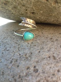 Vintage Turquoise Arrow Bypass Ring by PhoenixFinds on Etsy