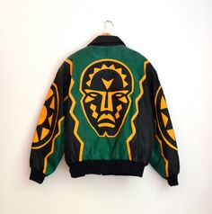 Hey, I found this really awesome Etsy listing at https://www.etsy.com/listing/203999338/80s-tribal-leather-jacket-by-michael