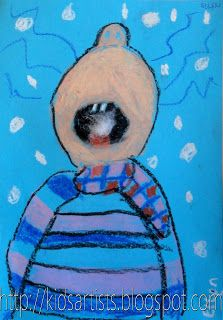 Kids Artists: grade 3 Writing a descriptive on catching a snowflake!