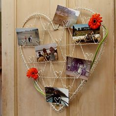 https://www.sassandbelle.co.uk/Vintage Wire Heart Photo Holder Large - Cream