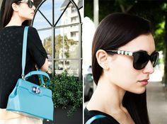 Bvlgari sunglasses and tote