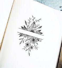 Laura Martinez - Home Decor drawings Laura Martinez Laura Martinez Bullet Journal Aesthetic, Bullet Journal Art, Bullet Journal Ideas Pages, Bullet Journal Inspiration, Cute Tattoos, Flower Tattoos, Small Tattoos, Tatoos, Pretty Tattoos