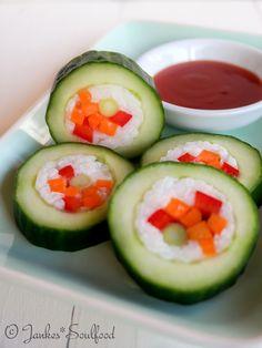 Gurken Sushi von Jankes Soulfood
