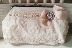 Tea Party vintage lace purse by Miss Rose by MissRoseSisterViolet