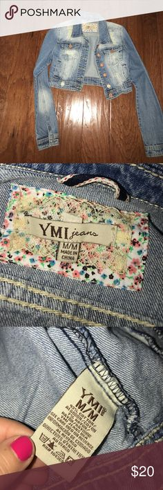 Jeans jacket never used M crop jacket so cute Jeans jacket never used M crop jacket so cute YMI Jackets & Coats Jean Jackets