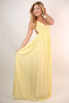 9a68f57d9087 The Grand Reveal Maxi Dress in Yellow