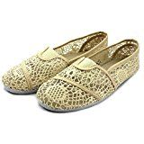 AmazonSmile | BOBS from Skechers Women's Plush-Candy Coated Flat, Natural/Multi Cutout, 5.5 M US | Flats