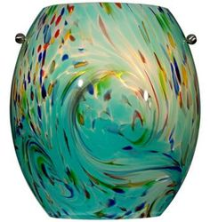 "Green Multi Color 8""wall sconce"