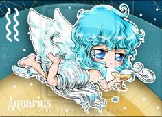Chibi Starsigns - Aquarius by Fiorina-Artworks on deviantART