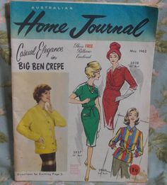 VINTAGE AUSTRALIAN HOME JOURNAL MAGAZINE - MAY 1962 ~ WITH PATTERNS