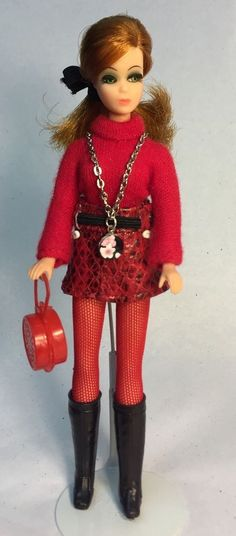 Topper Dawn Doll Side Part Glori In Custom Skirt & Necklace w/Hose Boots Sweater