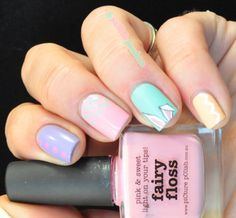 I know Easter is over but I just had to share this mani.  Sooooo cute.