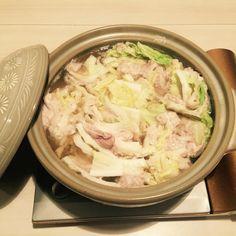 2/1 白菜と豚肉のミルフィーユ鍋(野菜だし)健康診断前のほりごはん