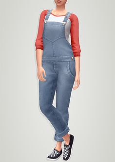 "itsgohliad: ""Leh's Farm Overall Recolor + Retexture These overalls by @lehgaming​ were already amazing as is, but I just couldn't imagine a farmer sim in sequins hehe c; So here is a retexture /..."