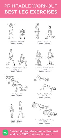 BEST LEG EXERCISES: my custom printable workout by @WorkoutLabs #workoutlabs…