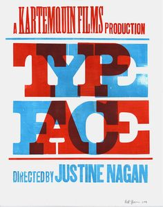 "https://flic.kr/p/5yZ2tf | Typeface film poster | 15"" × 19"" prints for Typeface, Justine Nagan's documentary on the Hamilton Wood Type & Printing Museum"