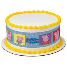 Peppa Pig Edible Birthday Cake Topper by jenuinecraftsandmore