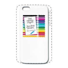 iPhone 5/5s  Case :Life is all about taking time to enjoy yourself. Parents, Teachers, Artists, and kids can be inspired by this message, surrounded by colorful crayons. #iphone #iphonecase