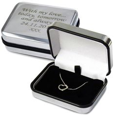 Heart Necklace (Sterling Silver) with Engraved Box £24.99 - The Wedding Gift Company
