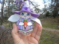Purple lightbulb easter bunny