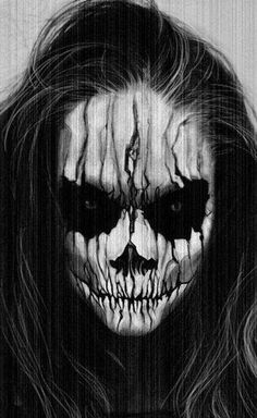 Scary Halloween Face Paint Halloween make ups are an amazing solution for Halloween. You can make incredible mask just with makeup. You can use a different colors of make up and make wonderful Halloween art on your face. Demon Halloween Makeup, Halloween Face Paint Scary, Amazing Halloween Makeup, Scary Makeup, Halloween Skull, Halloween Fun, Makeup Art, Makeup Ideas, Skull Makeup