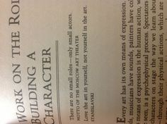 Thank you, Stanislavski book