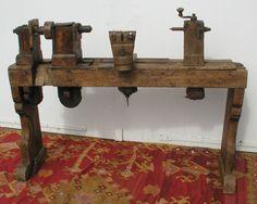 Wood lathe.