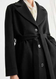 Oversized Alpaca Blend Coat - Black - Woolcoats - & Other Stories GB
