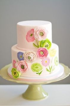 maybe this is why I like to decorate cakes- Multi-dimensional Sugarwork Cake Tutorial Gorgeous Cakes, Pretty Cakes, Cute Cakes, Amazing Cakes, Cake Decorating Techniques, Cake Decorating Tutorials, Painting Tutorials, Fondant Cakes, Cupcake Cakes