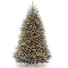 National Tree Company Pre-Lit Dunhill Blue Fir Hinged Full Artificial Tree with Clear Lights Gender: unisex. Christmas Tree Clear Lights, Pre Lit Christmas Tree, Beautiful Christmas Trees, Christmas Decorations, Christmas Ideas, Christmas Gifts, Christmas Quotes, Xmas Trees, Christmas Store