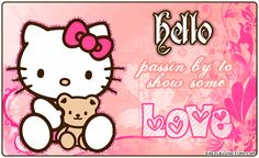 Hello Passing by to show some love love hearts gif hello kitty i love you good morning sending love love greeting showing love love messages animated love love comments