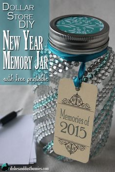A memory jar is a great way to save those precious and memorable times throughout the year! Free printable also included!