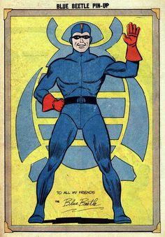 Blue Beetle Comic Book Pages, Comic Book Covers, Comic Books Art, Comic Art, Book Art, Superhero Pop Art, Charlton Comics, Blue Beetle, Comics Universe