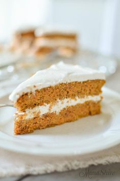 """If you're already at goal weight and can now enjoy the occasional Crossover . . . or if you have an allergy to gluten or dairy . . . try Robin's Carrot Cake!  """"This carrot cake is so delicious and moist your family and friends will be surprised that it's gluten free!"""" - Robin  www.TrimHealthyMama.com"""