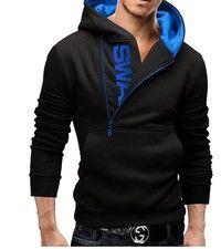 Wish   2015 New Style Men's Fashion Cardigan Napping Hoodies Popular Zipper Design Fleece Hoodie Jacket 5 Colors Warm Outwears