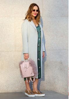 Mandatory Credit: Photo by Silvia Olsen/REX/Shutterstock (4462313ek) Tiani Kiriloff Street Style at Autumn Winter 2015, Milan Fashion Week, Britain - 26 Feb 2015