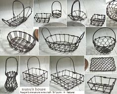 Miniature wire baskets - Nunu's House