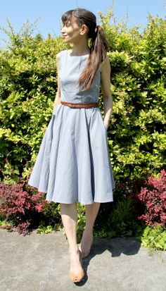 Betty dress / Sew over it // Tissu Les trouvailles d'Amandine // Jolies bobines Sewing Paterns, Sew Over It, Dressmaking, Dress Patterns, My Outfit, Vintage Dresses, Dress Skirt, Cute Outfits, Sewing Ideas