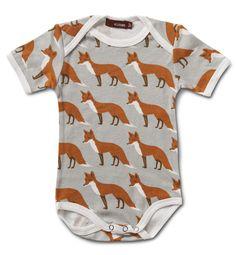 MilkBarn Baby One Piece - Orange Fox