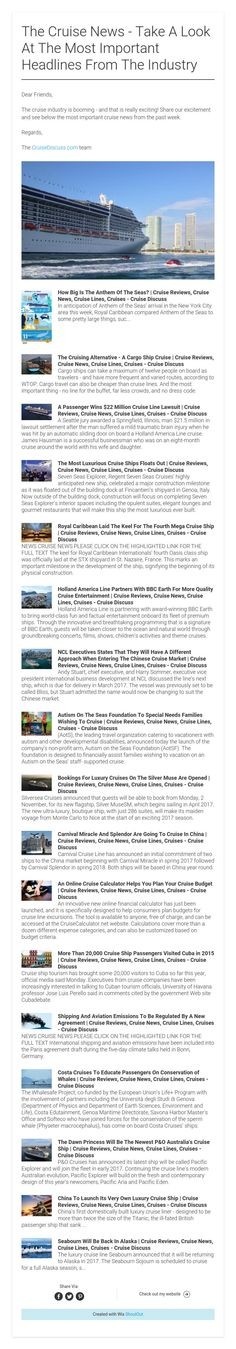 The Cruise News - Take A Look At The Most Important Headlines From The Industry