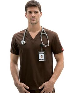 Men's Scrub Tops - Professional Scrubs for Less at Pulse Uniform Scrubs Uniform, Men In Uniform, Medical Uniforms, Men Online, Scrub Tops, Dress Patterns, Sexy Men, Menswear, Mens Tops