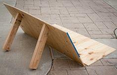 Artsy Living: A DIY Outdoor Bench for movie night