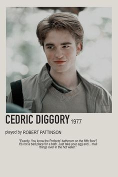 minimalist character polaroid cedric diggory poster (2005) - cedric diggory, robert pattinson, hufflepuff, 1977 Harry Potter Movie Posters, Iconic Movie Posters, Harry Potter Wizard, Harry Potter Cast, Harry Potter Characters, Iconic Movies, Film Posters, Robert Pattinson, Young Tom Riddle