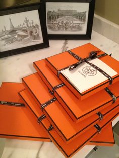 Orange boxes of happiness! #Hermes #Scarves