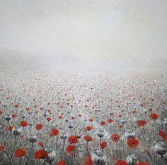 "Saatchi Art Artist Kevin Gray; Painting, ""Poppyfield #8 (sold)"" #art"