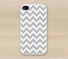 ON SALE - Grey Chevron Iphone 4 case, Iphone 4S case, Plastic hard case, Waterproof Ipone Case. $6.99, via Etsy.