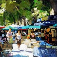 Image result for market day art paintings