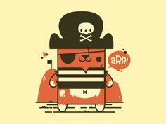 Pirate Cat by Jetpacks and Rollerskates #Design Popular #Dribbble #shots